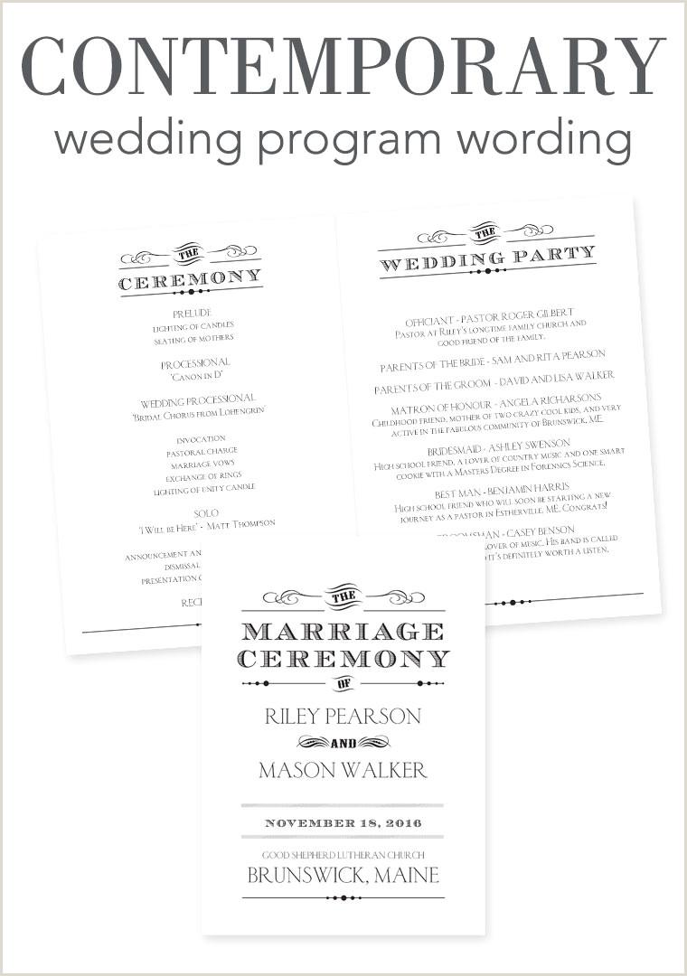 wedding program ceremony Zaloyrpentersdaughter