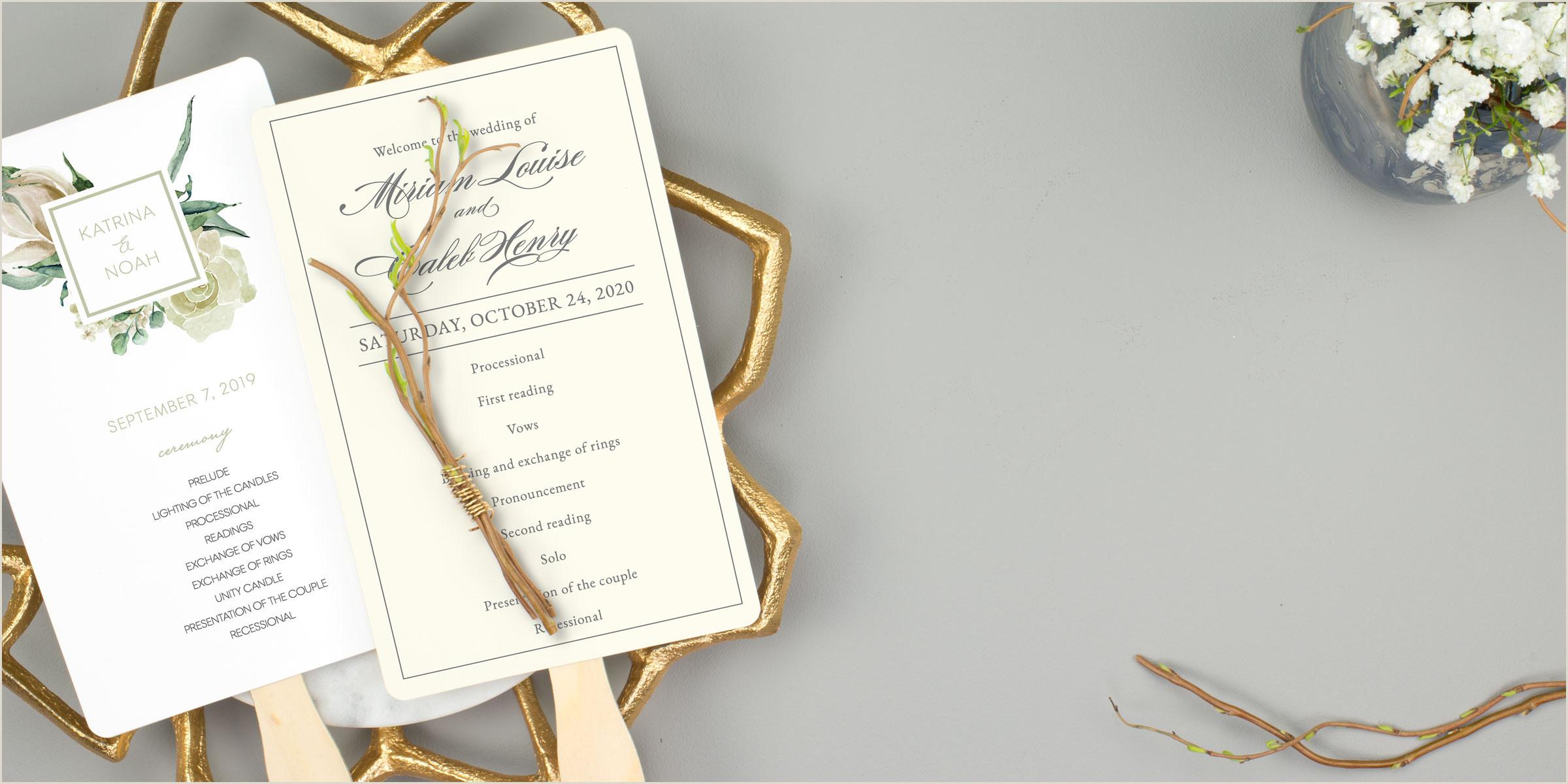 Modern Wedding Programs Wording Wedding Program Fans