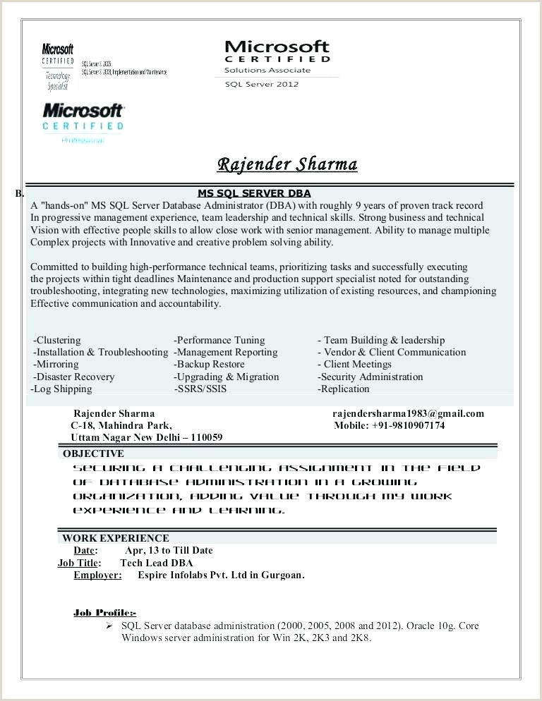 Mongodb Dba Sample Resume Dba Resume Sample – Growthnotes