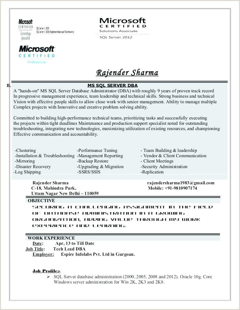 Mongodb Dba Sample Resume Dba Resume Sample – Growthnotes