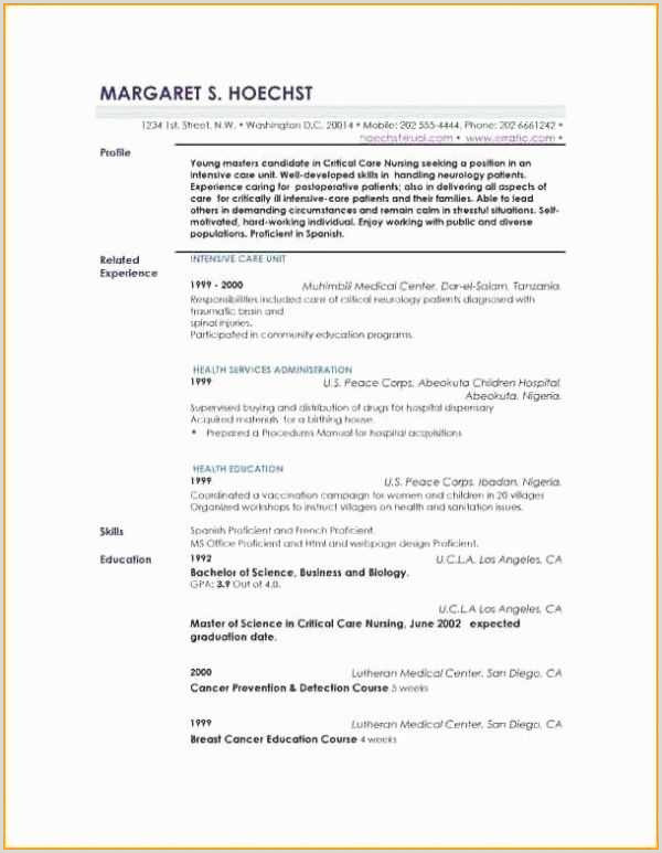 Profiles Examples for Resumes Best Resume Samples Germany
