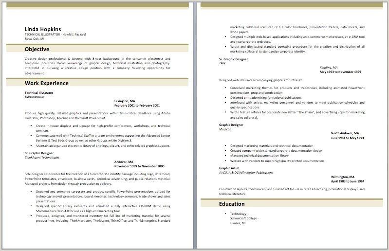Resume Template Creative Sample Free Creative Resume