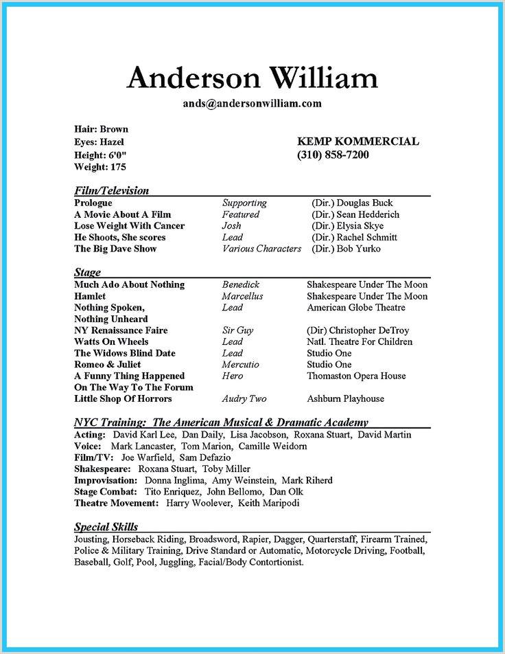 Movie theater Resume 100 Actor Resume Template Invoice Movie theater