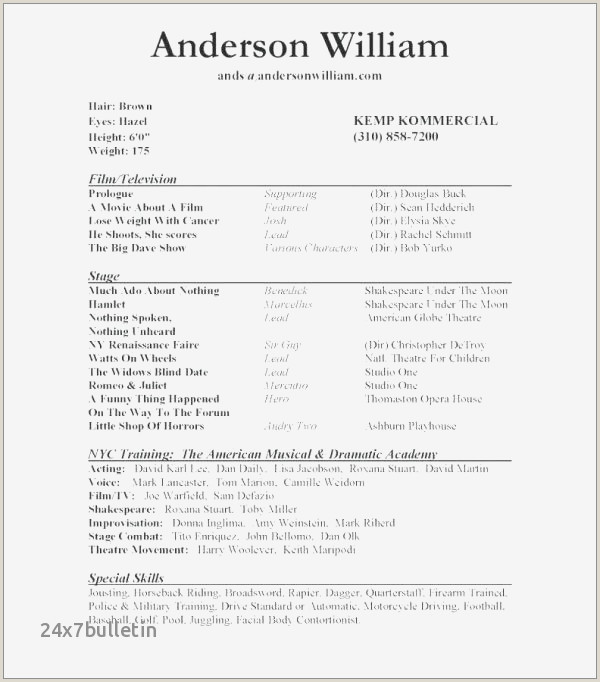 Movie theater Resume Example Best Movie theater Resume Sample