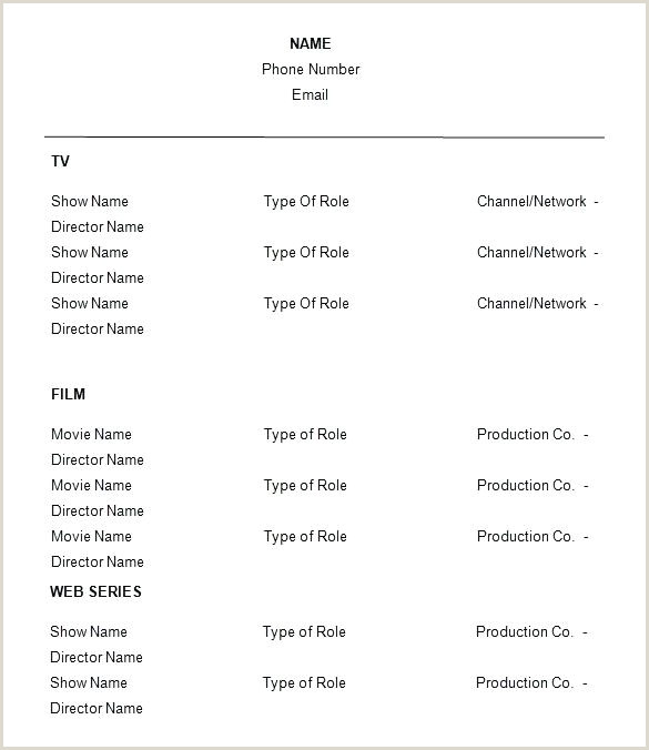 free acting resume template – chanceinc
