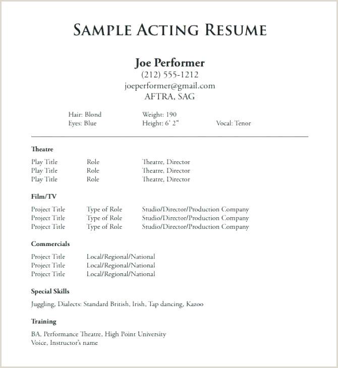 Free Actor Bio Template Technical Theatre Portfolio Actors