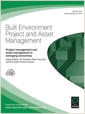 Built Environment Project and Asset Management Volume 7