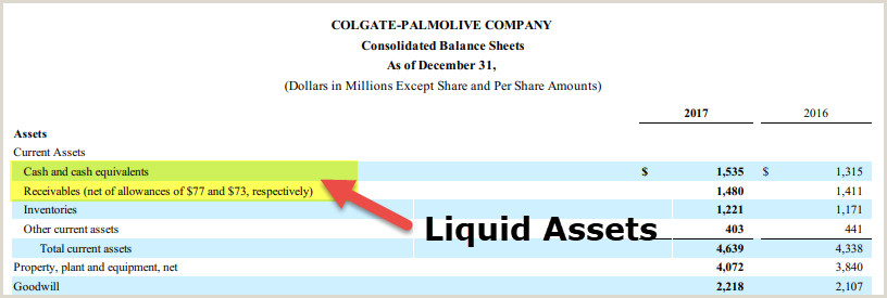 Liquid Assets Meaning Examples