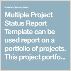 Multiple Project Status Report Template 10 Images formidables De Project Status Report