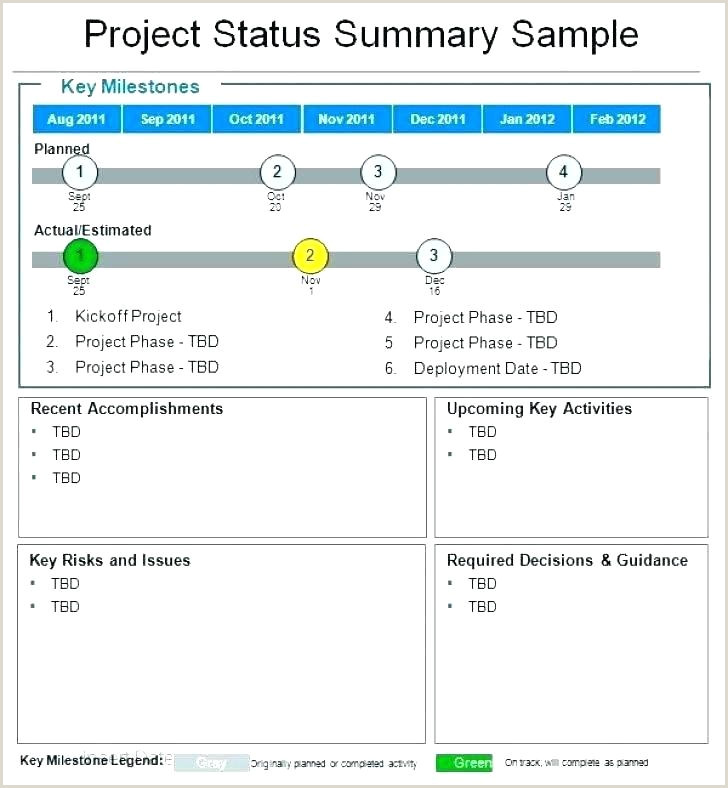 Template Construction Project Status Report Excel Weekly