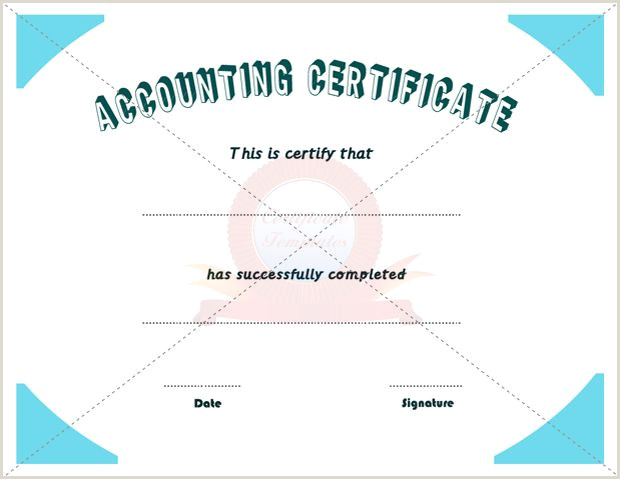 Accounting Certificate Business Certificate