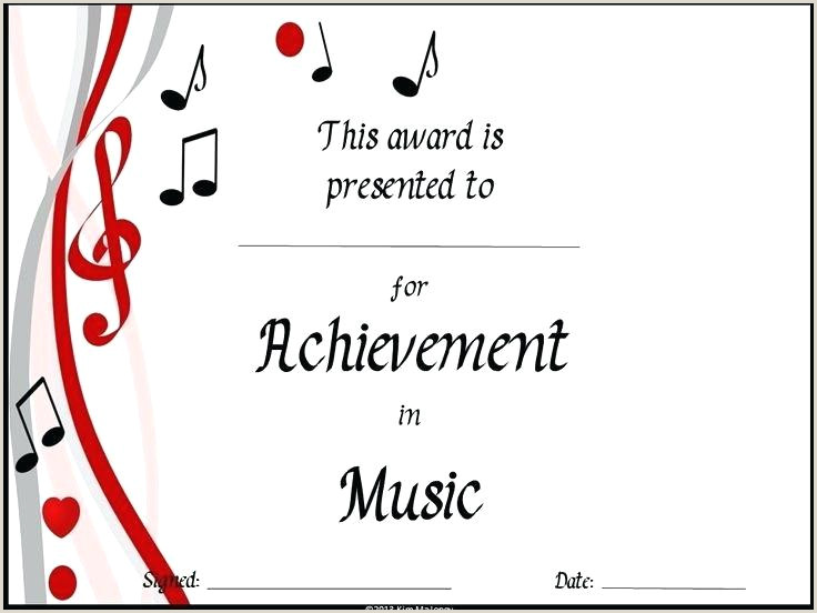 Musical Certificate Templates Free Music Certificate Template – Chanceinc