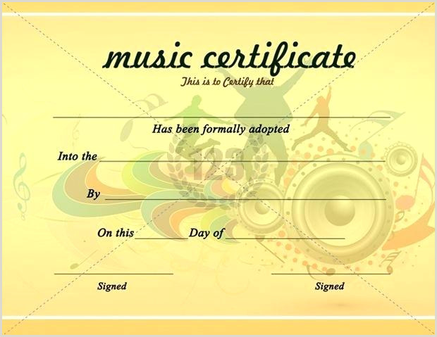 Free Music Certificate Templates Award Word Documents