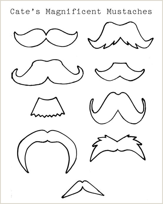 Mustache Color Pages Album Sabadaphnecottage