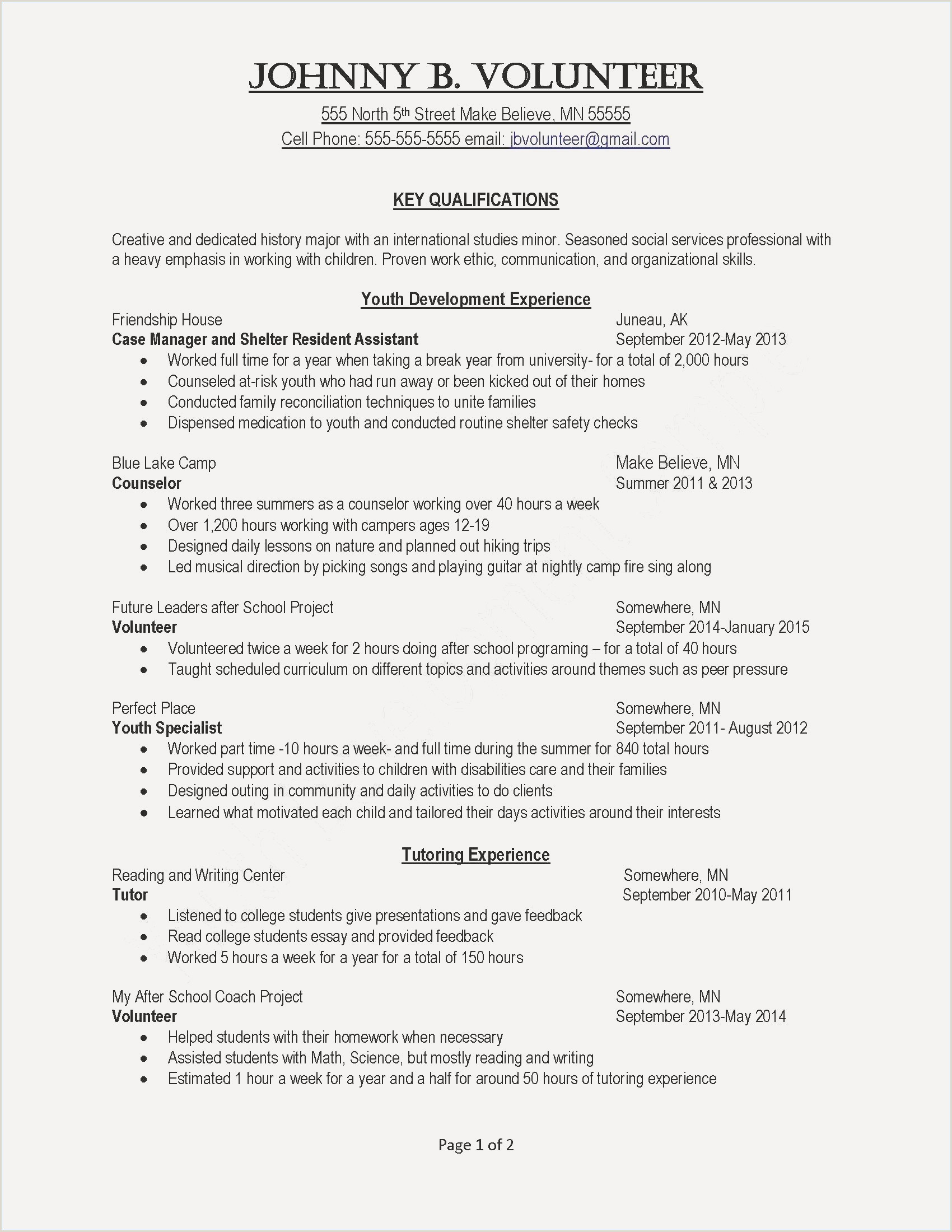 25 Sample Example College Resume
