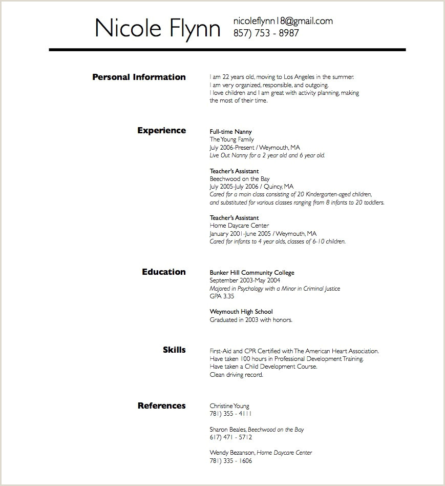 Babysitter Resume Sample Best Nanny Resume Example Unique