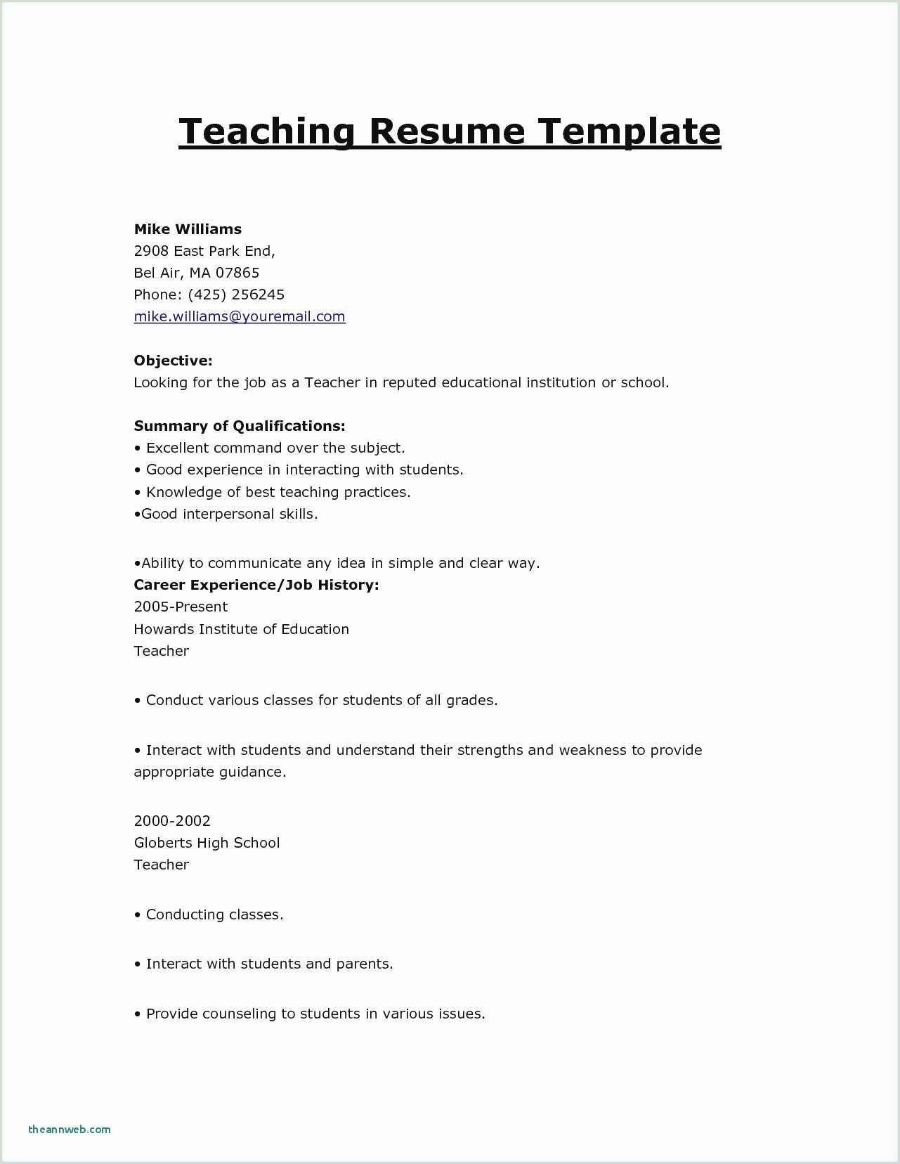Resume Template Simple – Salumguilher