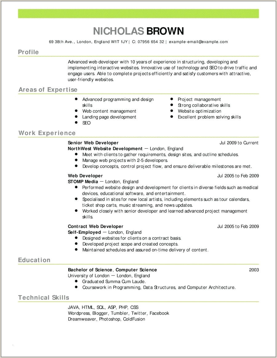 25 Sample Resume Template for No Experience