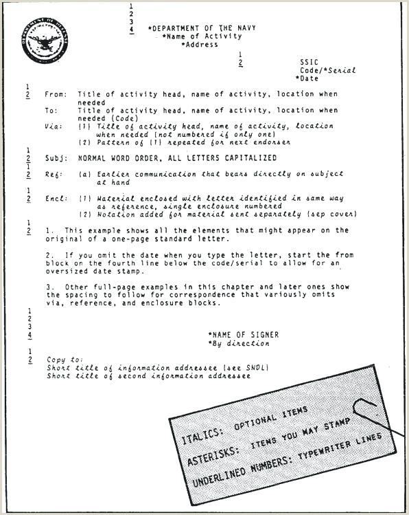 Navy Correspondence Letter Template Navy Letter format Template – Highendflavors