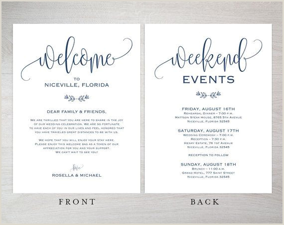 Navy Letter format Template Navy Blue Wedding Wel E Bag Note Wel E Bag Letter