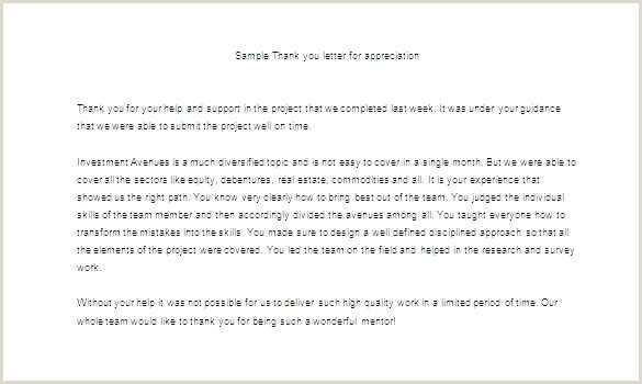 Sample Letters Appreciation For Good Customer Letter To
