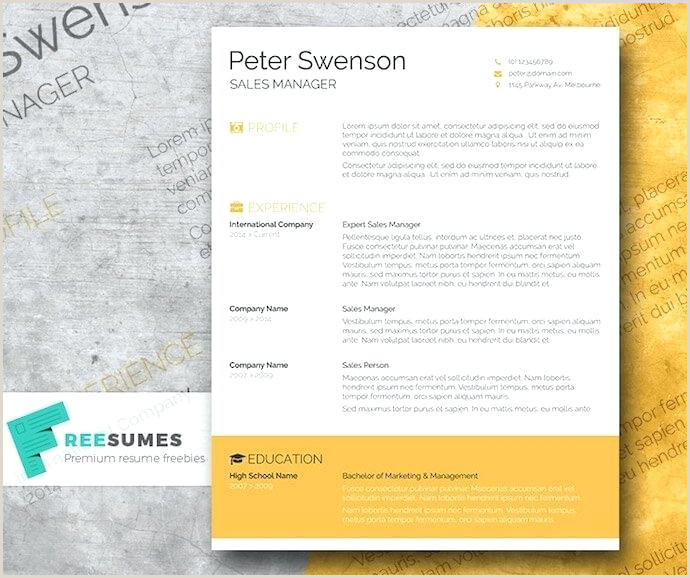 New Professional Cv format In Ms Word Goldenrod Yellow Resume Template for Ms Word Marketing Cv