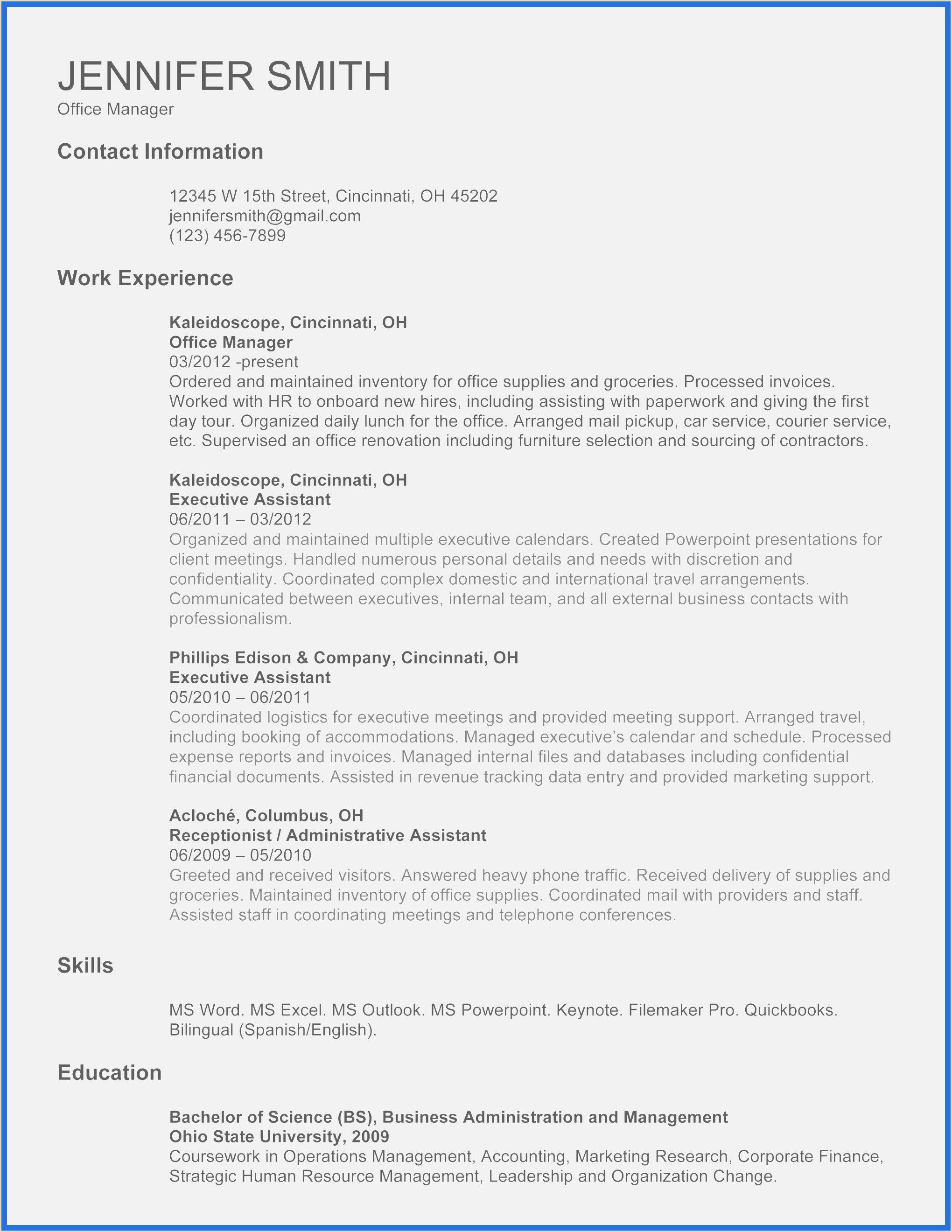 Resume Template Microsoft Word 2010 – Salumguilher