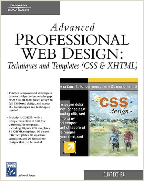News Website Design Template Advanced Professional Web Design Techniques & Templates Css & Xhtml Edition 1 Paperback