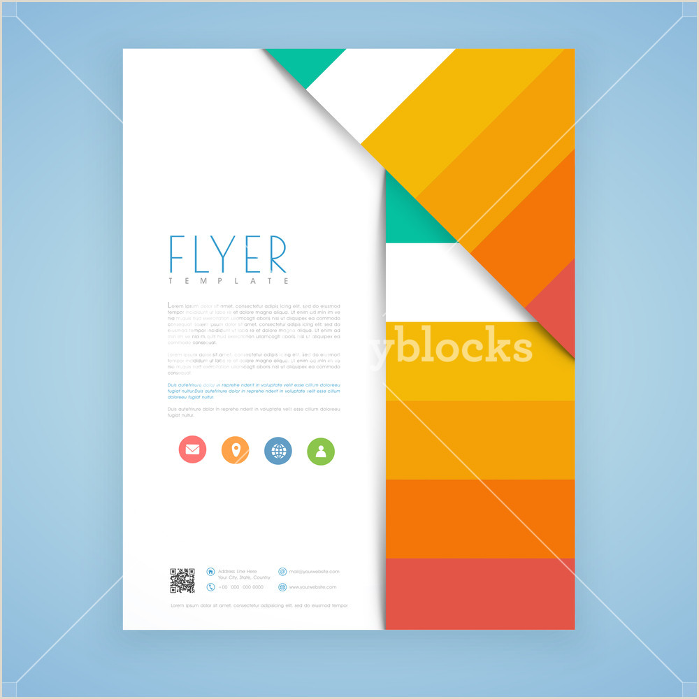 Creative business flyer template or brochure design with