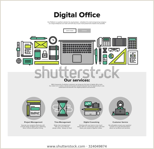 News Website Design Template E Page Web Design Template Thin Stock Vector Royalty Free
