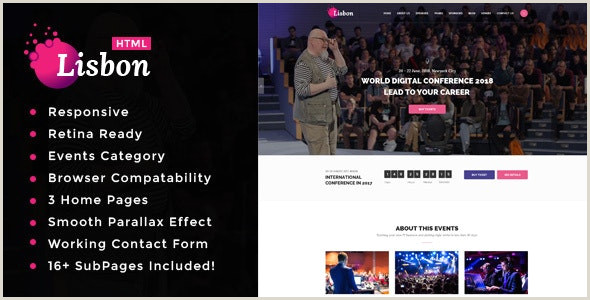 Lisbon Conference & Event HTML Template by template path