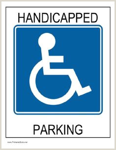 No Parking Signs Printable 29 Best Disabled Parking Images In 2018