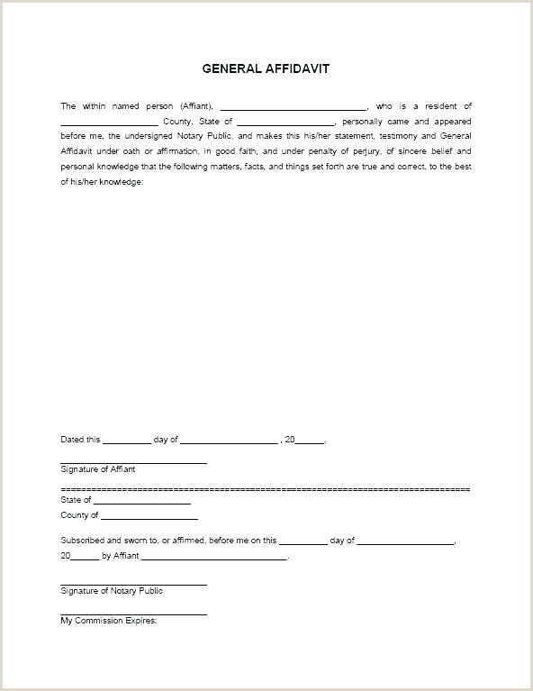 Notary Sworn Statement Notarized Letter Notary Paper format Beautiful Statement