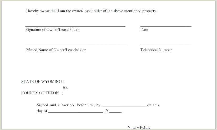 Notary Sworn Statement Notary Public Signature Line Template