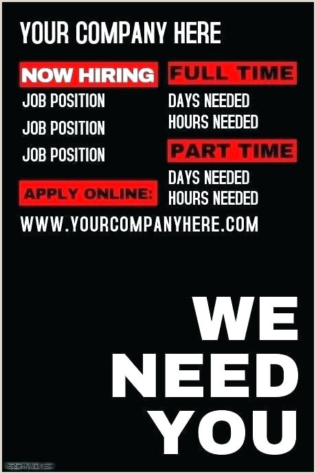 Now Hiring Flyer Template Word Job Wanted Ad Template