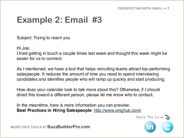 Cold Emailing Templates For Prospecting Job Hiring Email