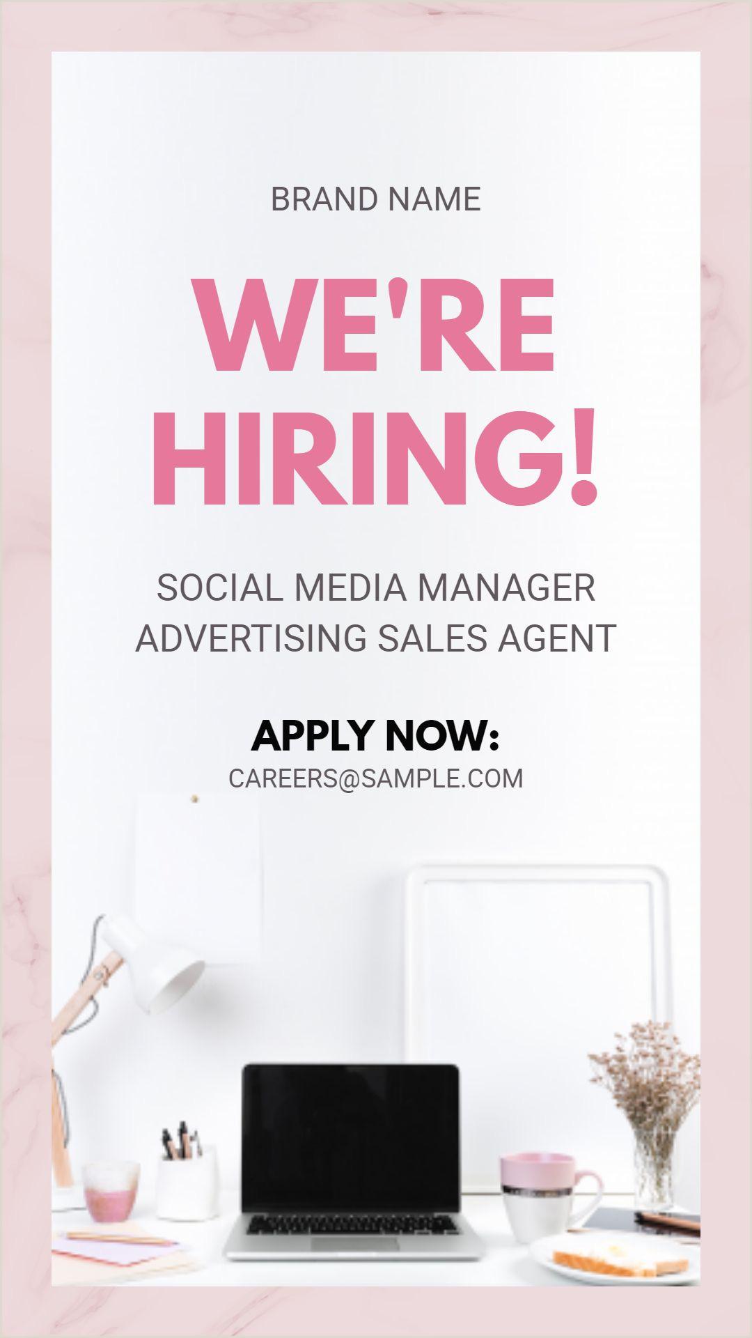 We re hiring job vacancy Instagram story ad template