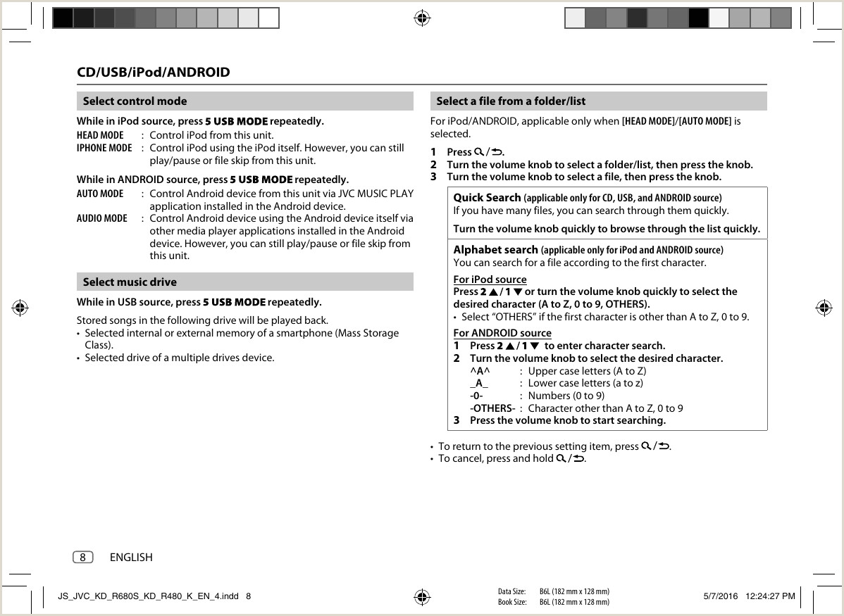 JVC KD R680S KD R680S KD R480 K User Manual B5A 1346 00