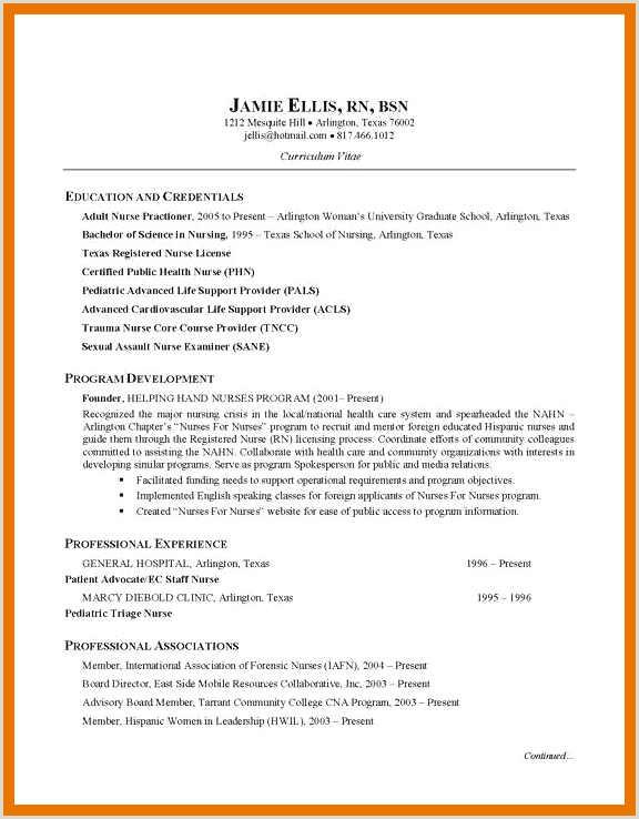 Resume Rn Bsn Resume Resume Information Nursing Resume