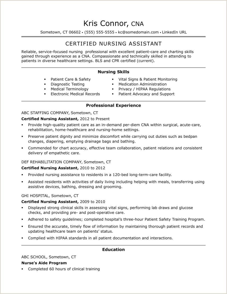 Sample Nursing Resume Template Nurse Manager R