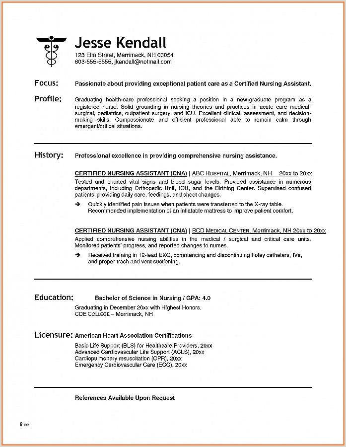 Nursing assistant Resume Nursing assistant Resume Unique Skills and Abilities for