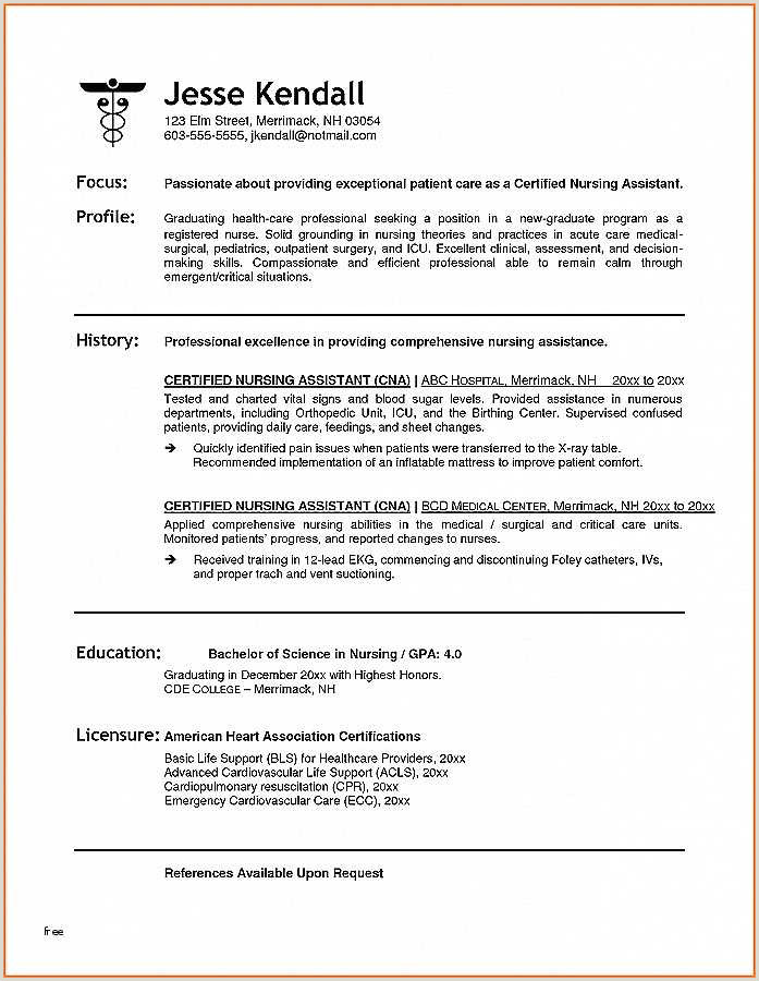 Unique Certified Nursing assistant Skills for Resume