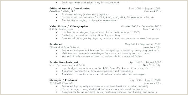 Tv Production Cover Letter Examples