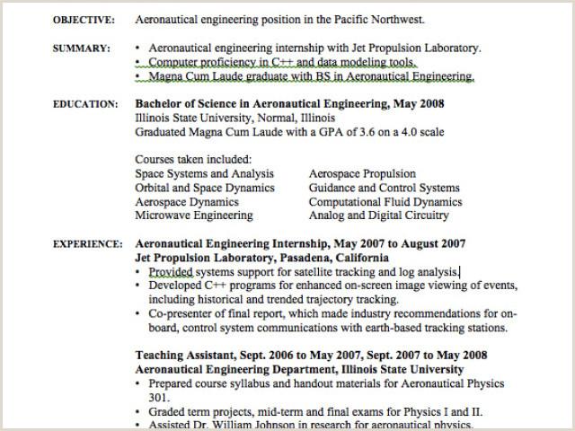 Excellent Engineering Intern Resume Resume Design