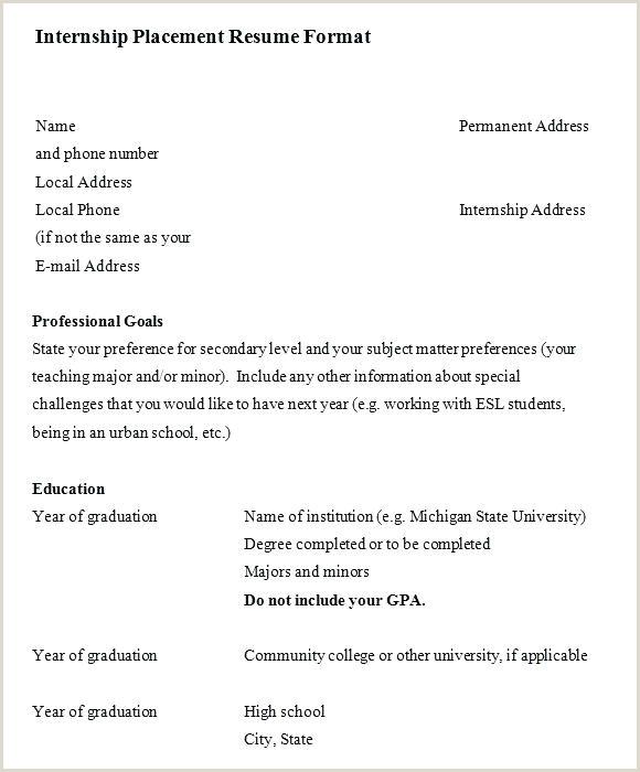 Objective for Internship Resume Internship Resume format – Joefitnessstore