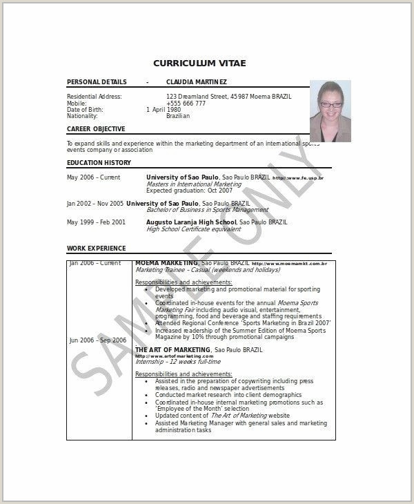 White Paper Marketing Luxury Resume Sample Summary Fresh
