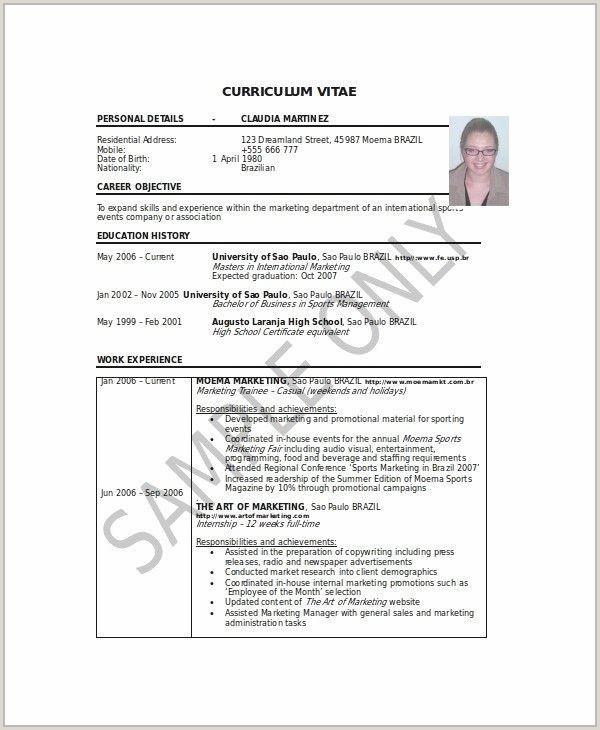 Objective for Marketing Resume White Paper Marketing Luxury Resume Sample Summary Fresh