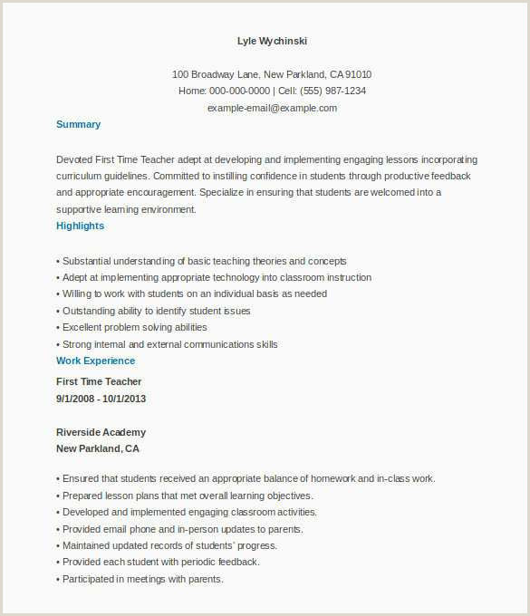 Objective In Resume for Teacher Free Resume Templates for Nurses New Resume format for