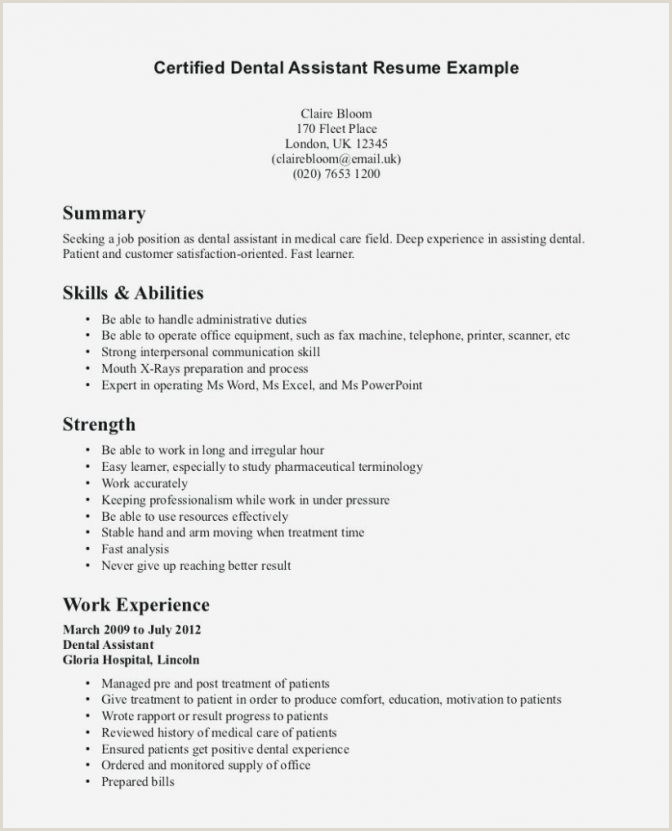 Objectives for Dental assistant Resumes orthodontist Resume Examples orthodontic Samples