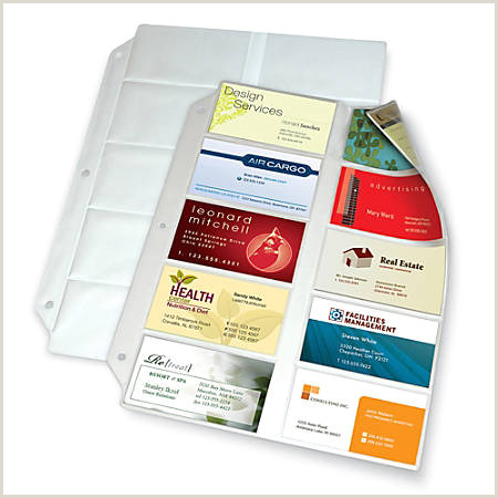"""fice Depot Brand Business Collection Card File Binder Refill Pages 8 1 2"""" x 11"""" Pack 10 Item"""